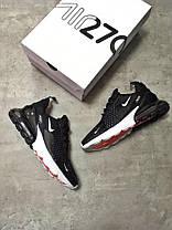 Мужские кроссовки Nike Air Max 270 черные топ реплика, фото 2