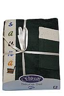 Набор для сауны и бани мужской (Тёмно-зелёный)