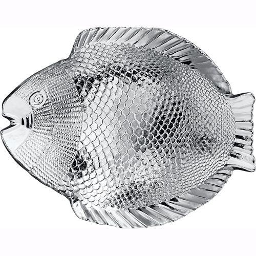 Набор стеклянных рыбных тарелок Pasabahce Марине 196х160мм 6 шт (10256)