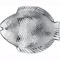 Набор стеклянных рыбных тарелок Pasabahce Марине 196х160мм 6 шт (10256), фото 1