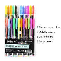 Набор цветные гелевые ручки 24шт Neon Color