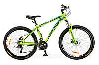 """Велосипед горный  29"""" Optimabikes Motion Dd 2017, алюминиевая рама, рама 21""""  черно-салатный с зеленым"""