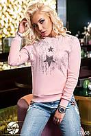 Женский свитшот розового цвета с рисунком. Размеры 42-46. Модель 17558, фото 1