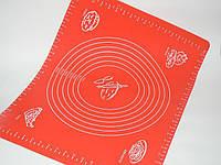 Силиконовый коврик для выпечки и раскатки теста 38х48см