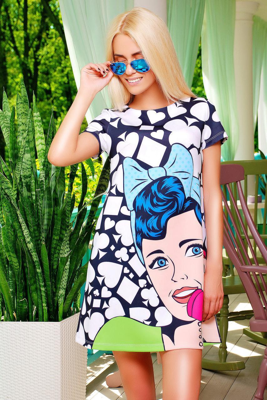 163a0e5a2e4bb платье GLEM Поп-арт платье Тая-1 к/р: продажа, цена в Мариуполе ...