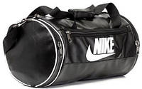 Кожаная сумка бочка Nike черный, спортивная сумка для тренировок реплика, фото 1