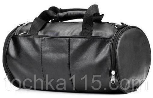 Кожаная сумка бочка, сумка для тренировок, мужская сумка, женская сумка, фото 1