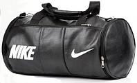 Кожаная сумка бочка Nike, сумка для тренировок, мужская сумка, женская сумка  реплика, фото 1