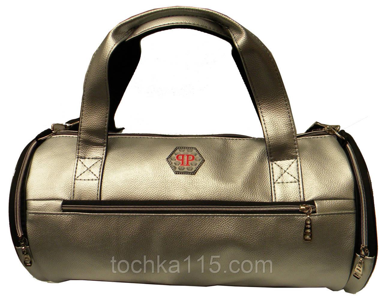 3189ef1a Кожаная сумка бочка Philipp Plein, мужская сумка, женская сумка для  тренировок Филипп Плейн реплика ...