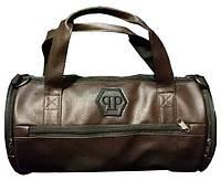 Кожаная сумка бочка Philipp Plein, мужская сумка, женская сумка, спортивная сумка Филипп Плэйн