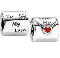 """Шарм бусина Pandora (Пандора) """"From Me To My Love"""""""
