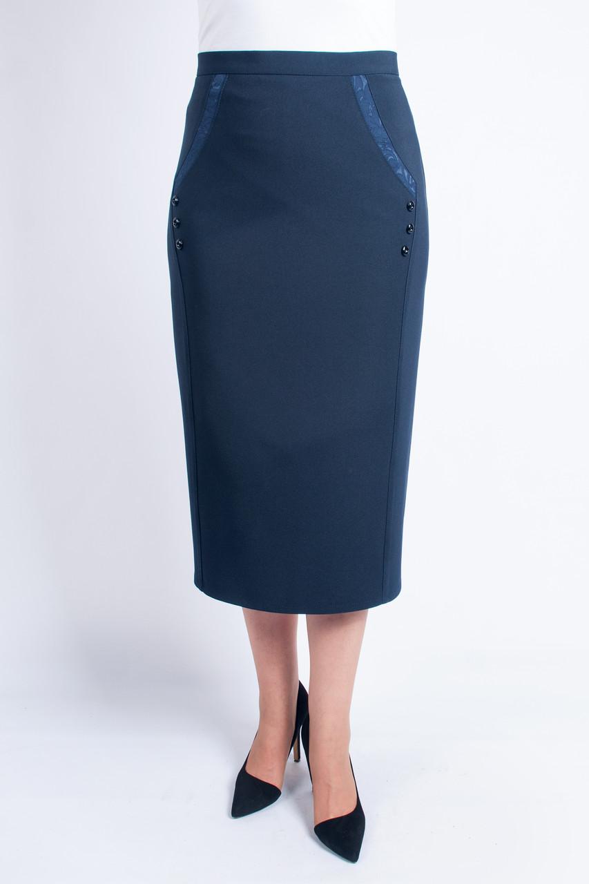 Женская юбка Божена синяя