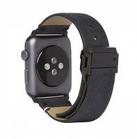 Decoded Leather Straps for Apple Watch Black