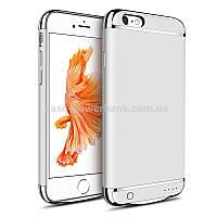 Чехол-зарядка для iPhone 6+ Серебро