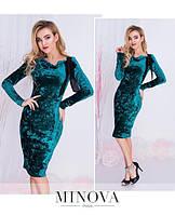 Нарядное облегающее бархатное платье 88103
