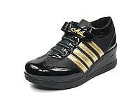 Детская спортивная обувь кроссовки:105-113 Черный-Золотой