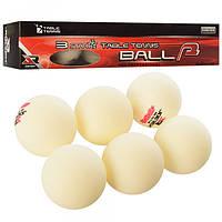 Набор мячей для настольного тенниса 1252 (шарики для настольного тенниса): 6 мячей в комплекте