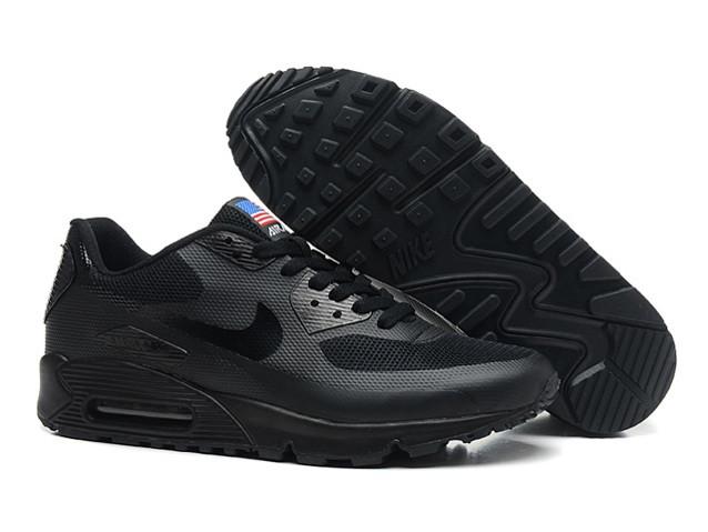 2a85dc45af42 Мужские кроссовки Nike Air Max 90 Hyperfuse черные сетка - Shoes-intime в  Харькове