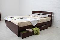 Кровать Нова с ящиками 200*90 бук Олимп, фото 1