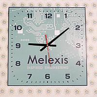 Часы настенные квадратные С вашим логотипом 40х40 см