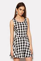 S (42) / Женское платье в клетку Kristy, серый