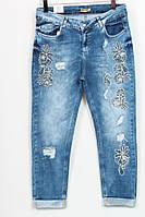 Женские джинсы с вышивкой,Luizza(Турция) рр 50-56