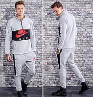 Серый спортивный костюм Nike мужской
