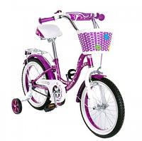 Велосипед двухколёсный детский 16 дюймов с корзинкой  SW-17017 фиолетовый  ***