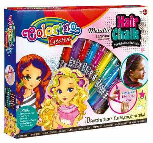 Мел для волос в карандашах Colorino 10 цветов