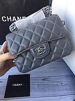 Мини сумочка Chanel mini flap натуральная кожа (реплика), фото 1
