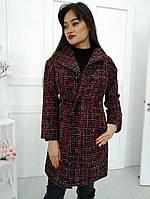Демисезонное женское пальто букле