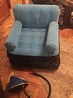 Велюр-кресло трансформер Bestway б/у цвет серый