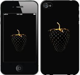 """Чехол на iPhone 4 Черная клубника """"3585c-15-328"""""""