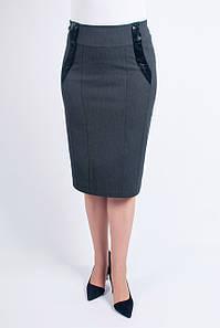 Женская юбка Диана серая