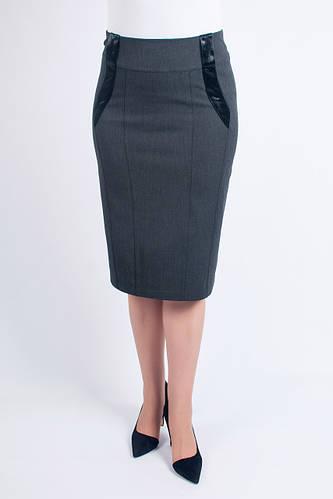062122fe840 Женская юбка Диана серая  продажа