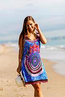 Платье, сарафан женский синий из вискозы Индиано AnastaSea 703