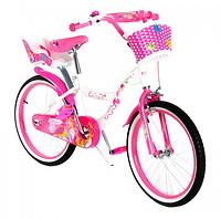 Велосипед двухколёсный  20 дюймов с корзинкой SW-17014 розовый ***