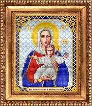 """Схема для вышивки бисером """"Богородица Леушинская. Аз есмь с вами и никтоже на вы"""" И-5019"""