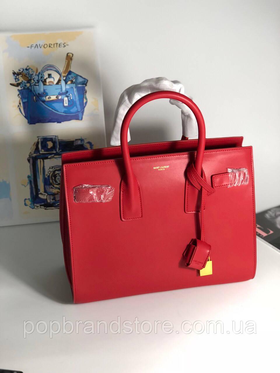 5a8f6377d7dd Классическая женская сумка SAINT LAURENT Sac de Jour красная (реплика) -  Pop Brand Store