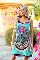 Платье, сарафан женский бирюзовый из вискозы Индиано AnastaSea 703