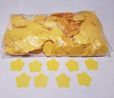Конфетти цветочки, желтые, 50 грамм