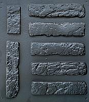 """Комплект """"Столетний кирпич"""" - 3 формы для гипсовой плитки. 28х6,5х0,8см. 1 м² = 54 шт., фото 1"""