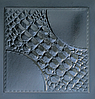 """""""Аллигатор"""" форма для 3D панелей 40х40"""