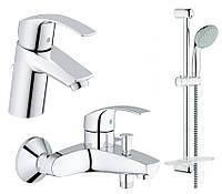 Набор Grohe Eurosmart 123238S смесители для ванной комнаты