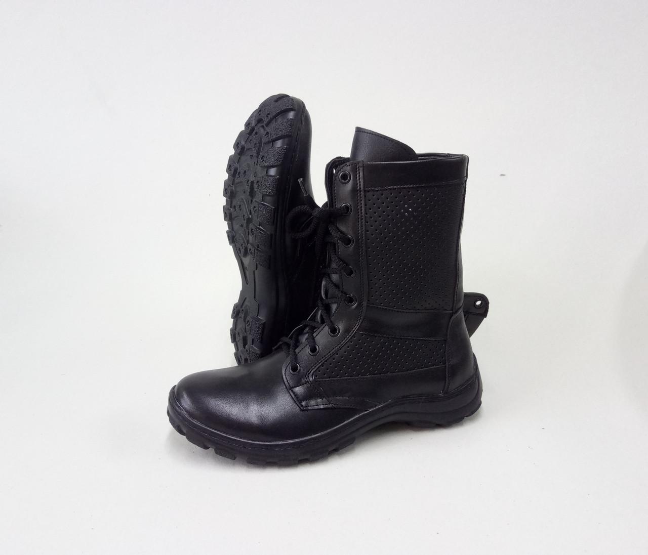 Тактические ботинки из натуральной кожи РА - НАТО Черная перфорация