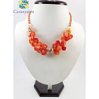 """Эксклюзивное ожерелье из коралла """"Бабочки 3"""""""
