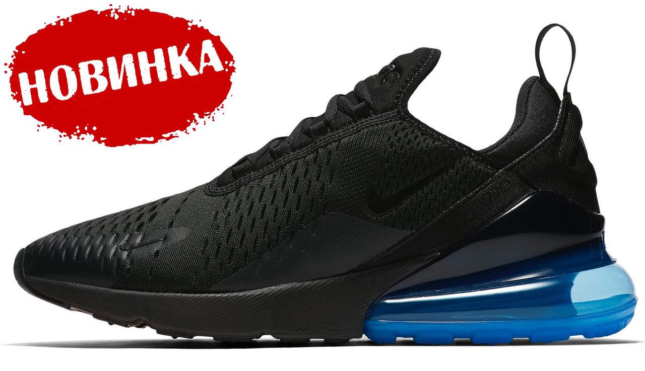 36c948f26d06 Мужские кроссовки Nike Air Max 270 Black Blue (найк аир макс 270) 42
