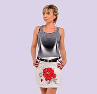 Женское трикотажное платье. Модель 78.  Размеры 42-48