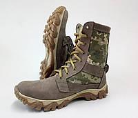 Тактические ботинки из натуральной кожи РА - НАТО Пиксель