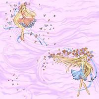 """Обои рулонные бумажные детские """"Магия 1053 ТМ Континент (Украина) 0,53*10,05"""